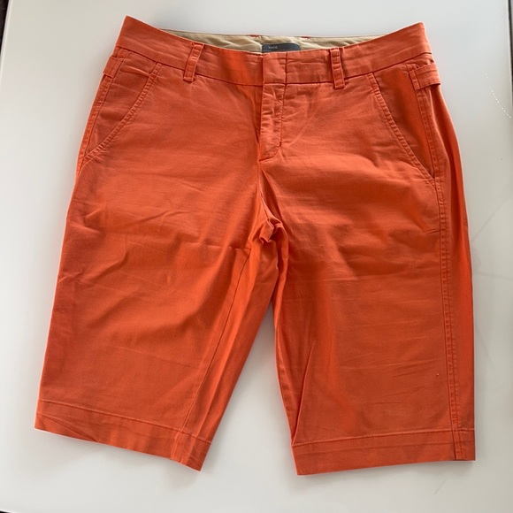 Vince orange bermuda shorts
